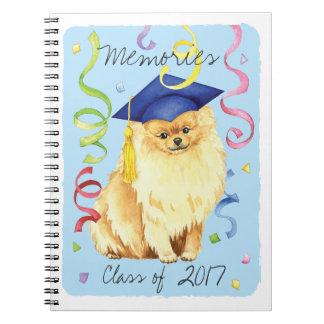 Pomeranian Graduate Spiral Notebook