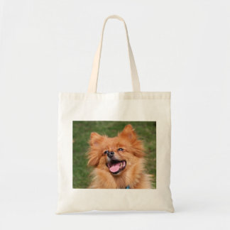Pomeranian happy dog tote bag, gift idea