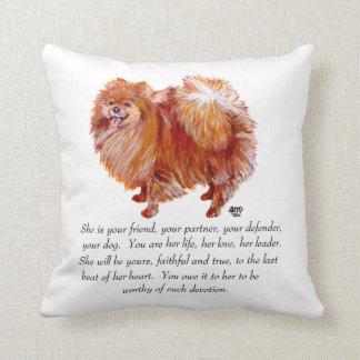 Pomeranian Keepsake Female Cushion