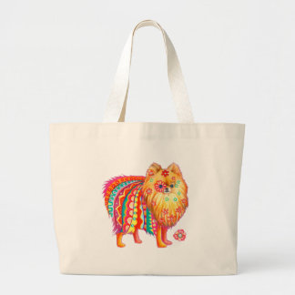 Pomeranian Large Tote Bag