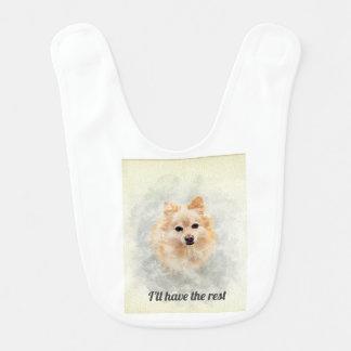 Pomeranian lovers baby bib! Ginger Pomeranian Dog Bib