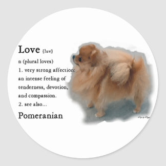 Pomeranian Lovers Gifts Classic Round Sticker