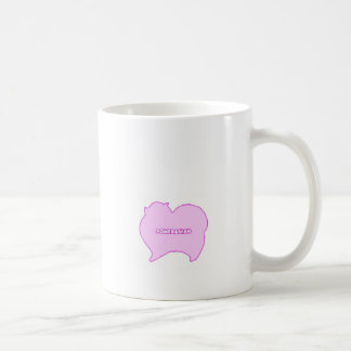 Pomeranian of pink and blue coffee mug