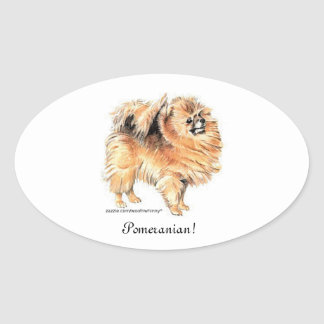 Pomeranian! Oval Sticker