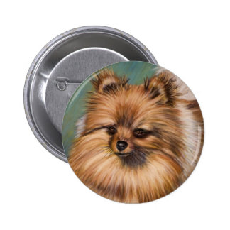 Pomeranian - Peaches and Cream on a Button