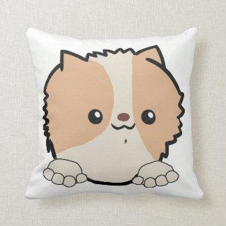 pomeranian peeking beaver cushion
