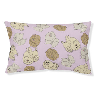 Pomeranian Pink Bed