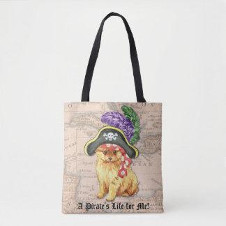 Pomeranian Pirate Tote Bag