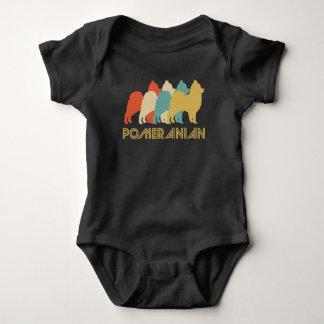 Pomeranian Retro Pop Art Baby Bodysuit