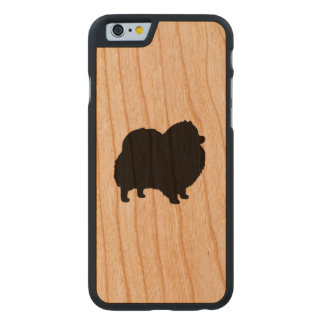 Pomeranian Silhouette Carved Cherry iPhone 6 Case