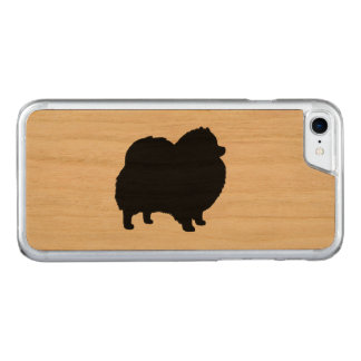 Pomeranian Silhouette Carved iPhone 8/7 Case