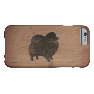 Pomeranian Silhouette Rustic Barely There iPhone 6 Case