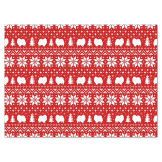 Pomeranian Silhouettes Christmas Pattern Tissue Paper