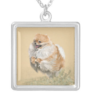 Pomeranian Silver Plated Necklace