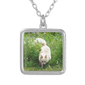 Pomeranian Silver Plated Necklace