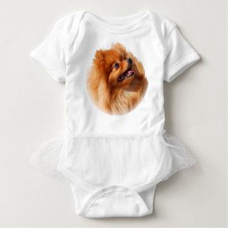 Pomeranian Spitz Baby Bodysuit