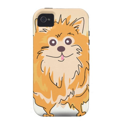 Pomeranian Spitz Dog Art Case-Mate iPhone 4 Cases