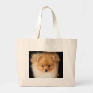 Pomeranian spitz large tote bag