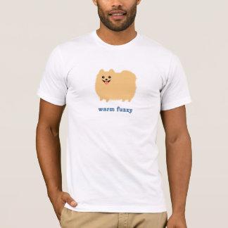 """Pomeranian """"Warm Fuzzy"""" Cute Dog with Custom Text T-Shirt"""
