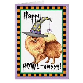 Pomeranian Witch Card