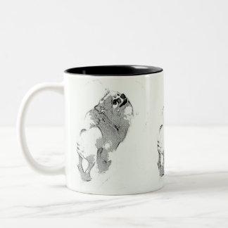 Pomeranian's New Haircut #5 Two-Tone Mug