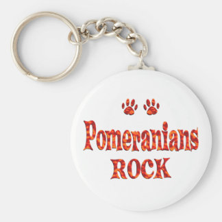 Pomeranians Rock Key Ring