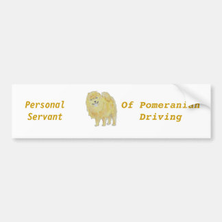Pomeranium cards and postcards Customize Product Bumper Stickers