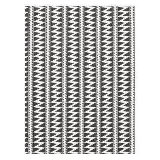Pomo Indian Zig Zag Black White Triangle Pattern Tablecloth