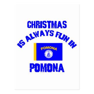 POMONA CHRISTMAS DESIGNS POSTCARDS