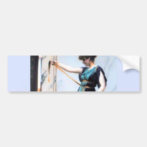 Pompeian Lady Woman painting Godward Bumper Stickers