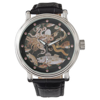 POMPEII COLLECTION OCEAN - SEA LIFE SCENE Nautical Watch