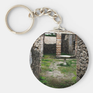 Pompeii - Entrance to an ancient courtyard Basic Round Button Key Ring