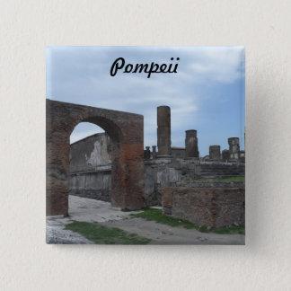 Pompeii, Italy 15 Cm Square Badge