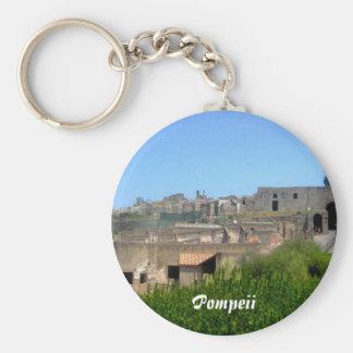 Pompeii Italy Basic Round Button Key Ring