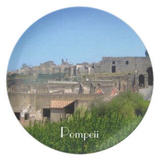 Pompeii Italy Plate