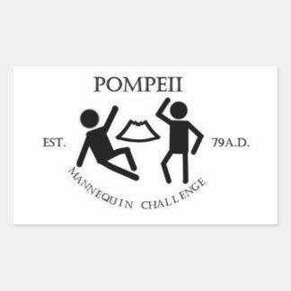 Pompeii Mannequin Challenge Sticker