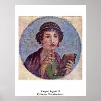 Pompeii Region Vi By Master Herkulaneischer Poster