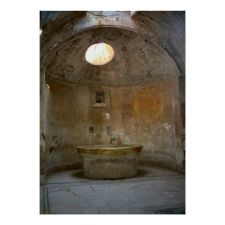 Pompeii, Roman bath house Poster