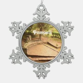 Pompeii Snowflake Pewter Christmas Ornament