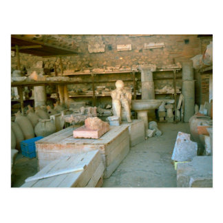 Pompeii, Some of the excavated artefacts Postcard