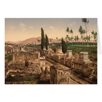 Pompeii, Street of Tombs Note Card
