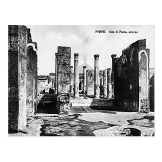 Pompeii, Villa and Vesuvius Postcard