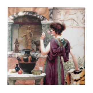 Pompeii Woman Godward garden Ceramic Tile