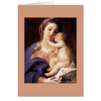 Pompeo Batoni, 'Madonna and Child' Card