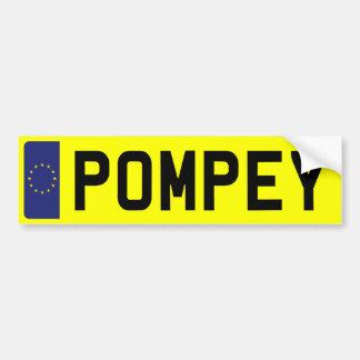 POMPEY Number Plate Bumper Sticker