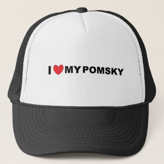 pomsky love trucker hat