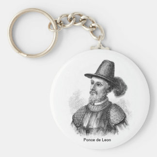 Ponce de Leon, famous explorer Key Ring