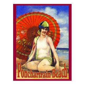 Ponchartrain Beach Old Postcard