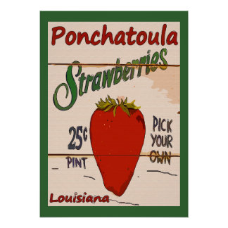 Ponchatoula Strawberries Sign