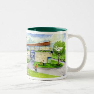 ponchos porch at NIchols Two-Tone Coffee Mug